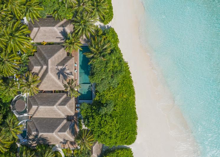 Three Bedroom Beach Pool Residence Aerial View