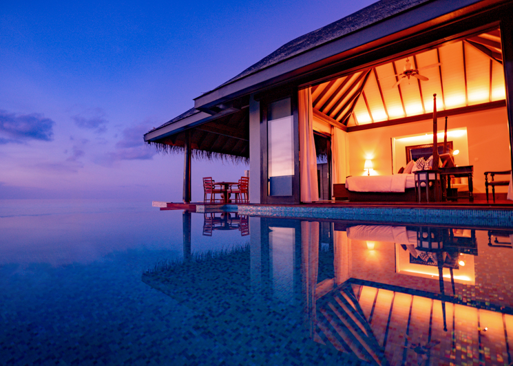Sunset Over Water Pool Villa Pool View Room