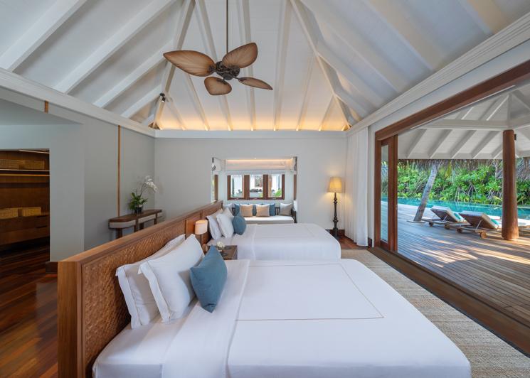 Beach Pool Residence Twin Bedroom