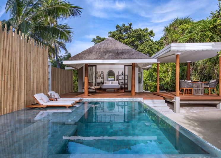 One bedroom beach pool villa exterior daylight