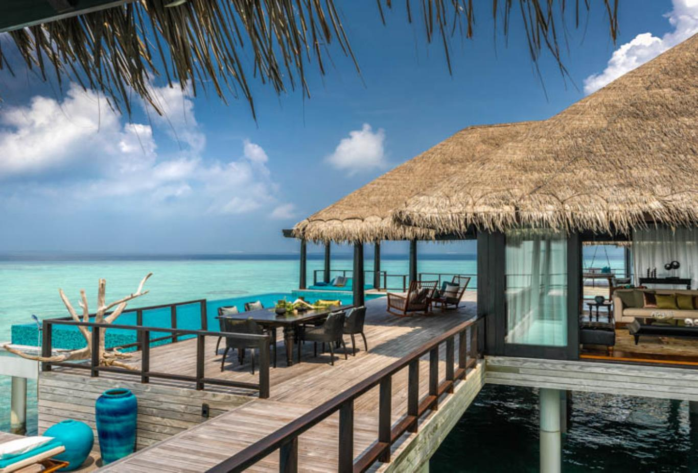 Two Bedroom Overwater Residence walkway and sea views