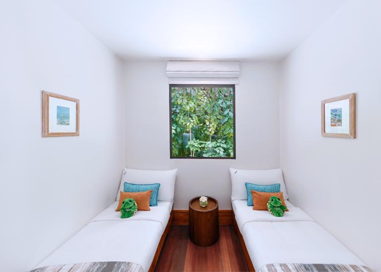 One bedroom family beach pool villa kids room interior