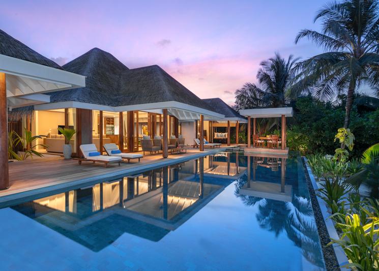 Two Bedroom Beach Pool Residence Swimming Pool Dusk