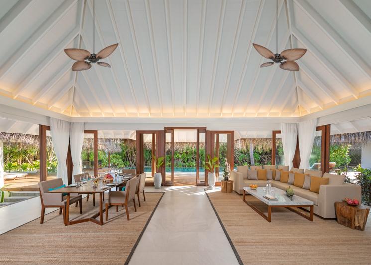 Three Bedroom Beach Pool Residence Living Room