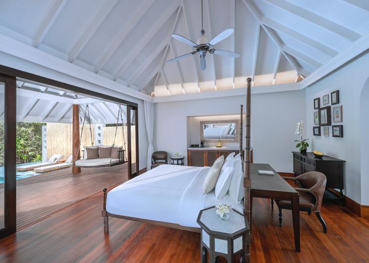 One bedroom family beach pool villa bedroom