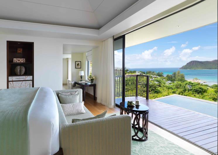 Panoramic pool villa view