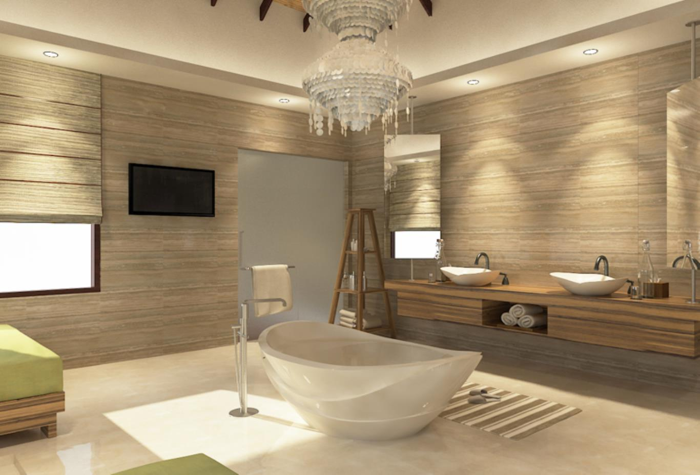 The sanctuary master bathroom