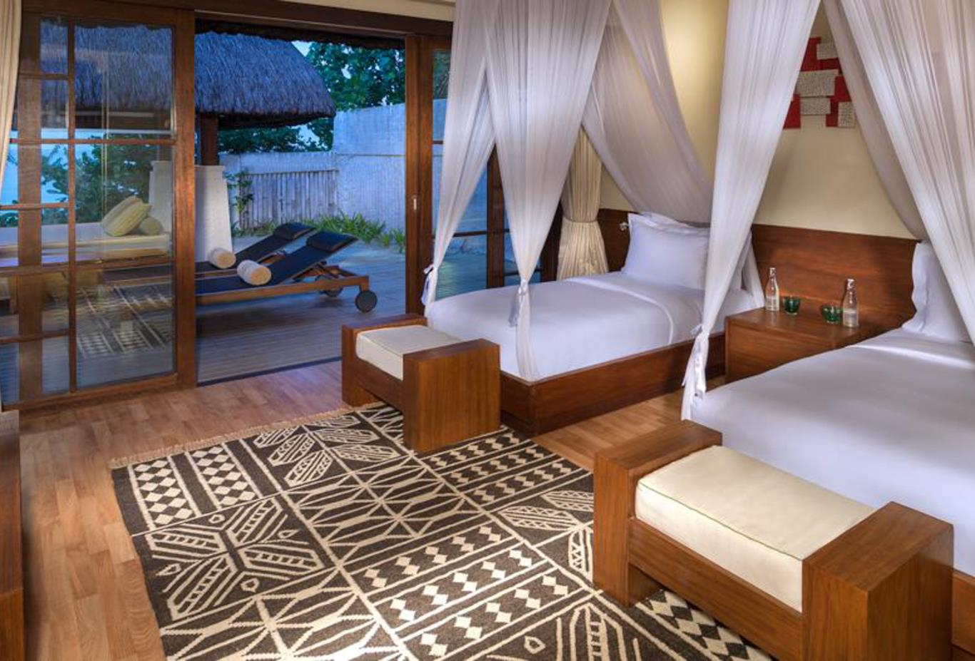 Two bed beach villa bedroom