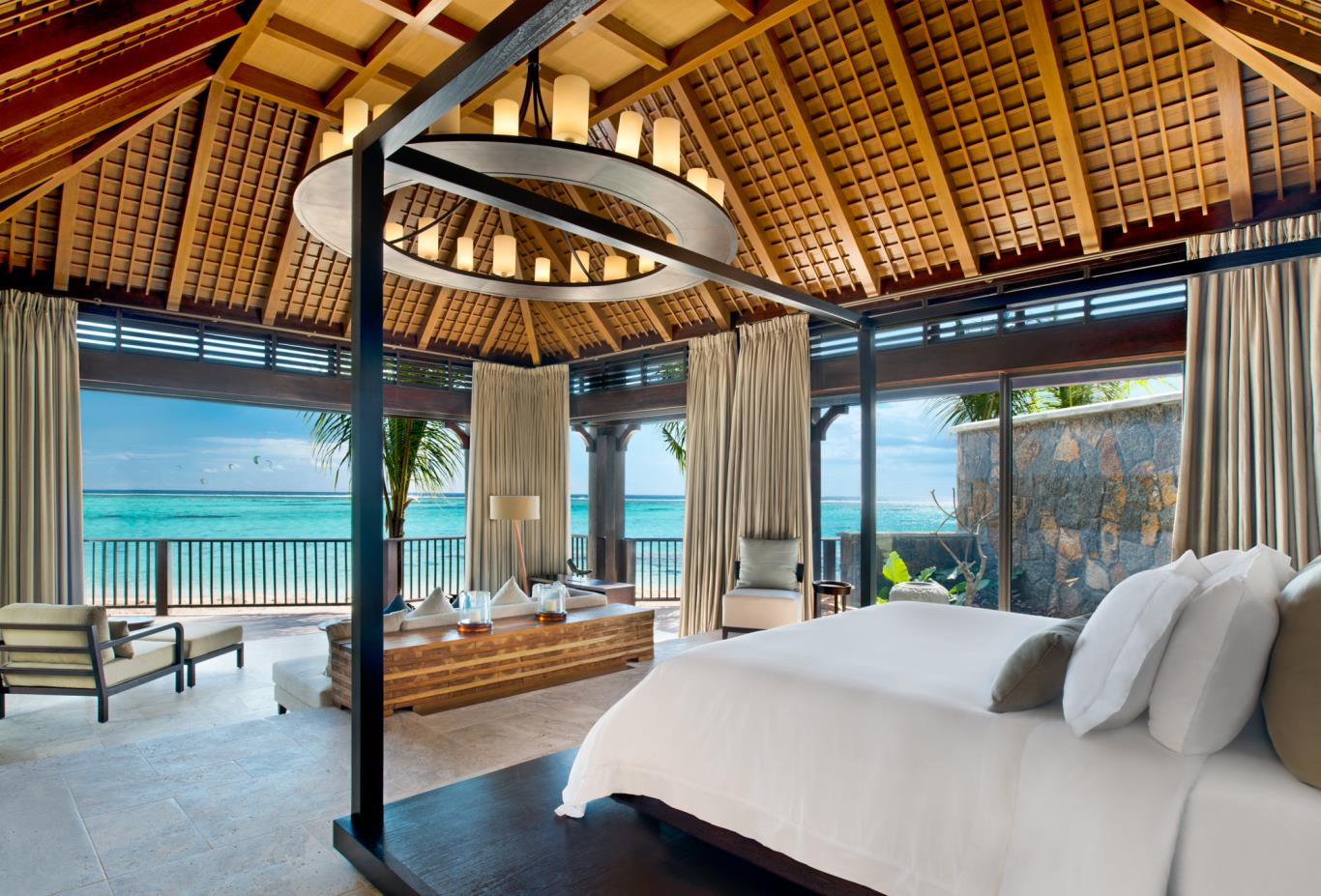 The St Regis Villa master bedroom with view