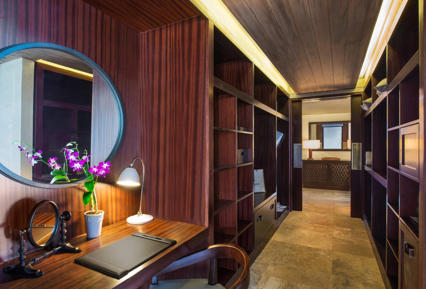 The St Regis Villa walk in wardrobe