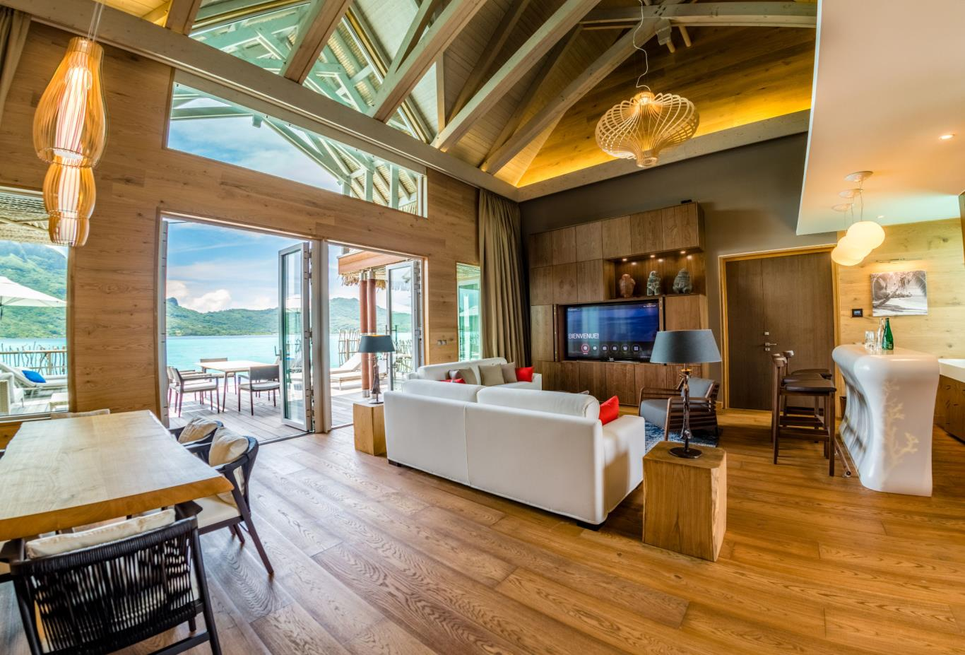 Brando Suite Bora Bora Living Room
