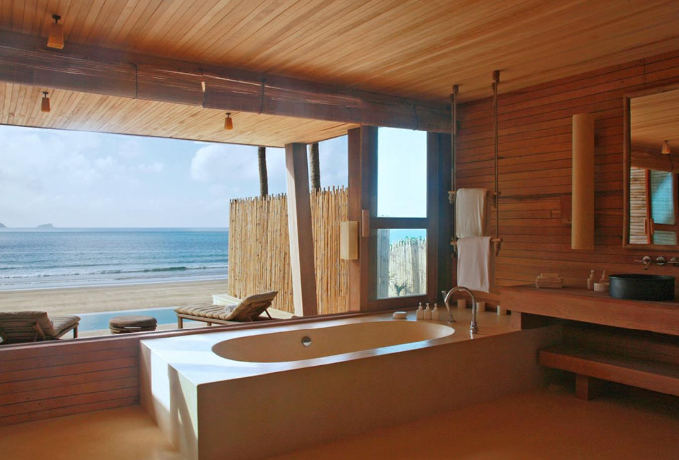 Ocean Front Duplex Pool Villa bathroom