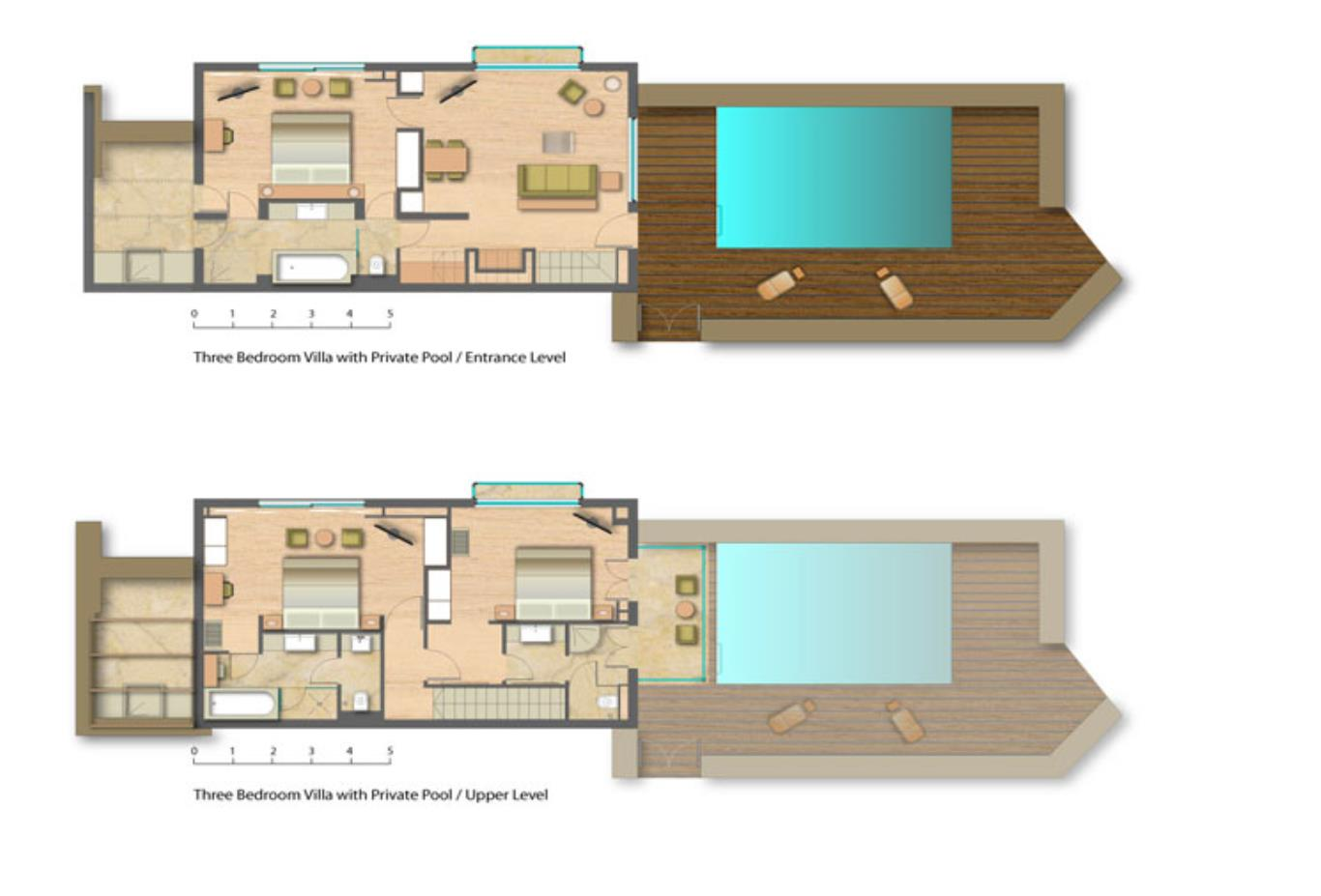 Floorplan Three Bedroom-family-villa-with-private-Pool