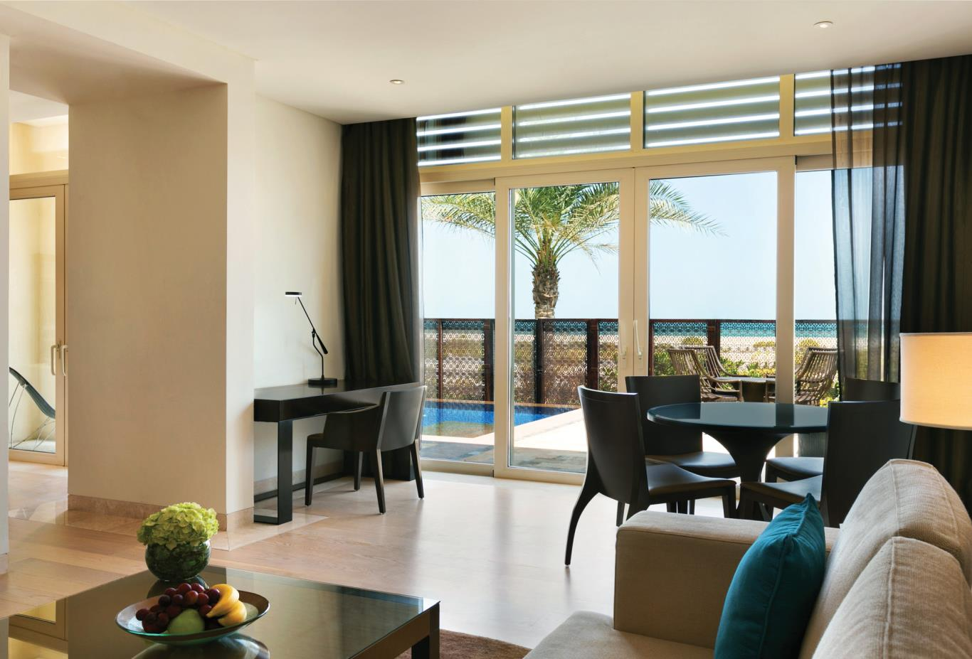 Beach View Suite Living Room with plunge pool