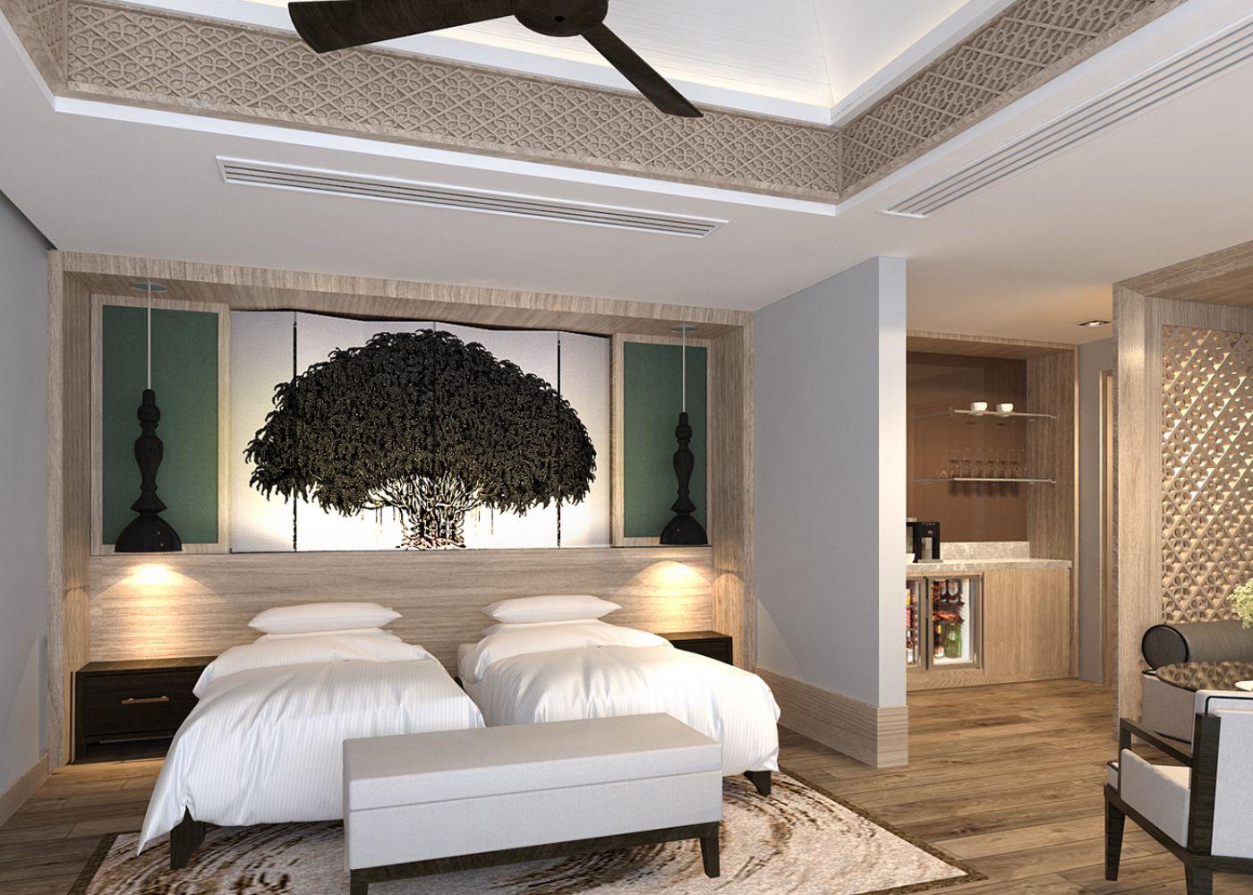 Serenity Pool Villa Bedroom