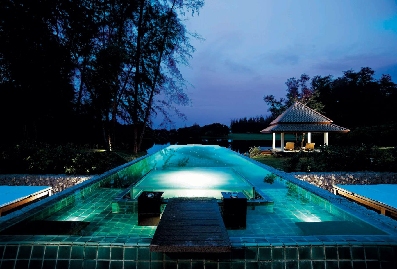 DoublePool Villa Outdoor Pool With Sala