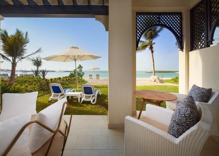 Family villa beach access