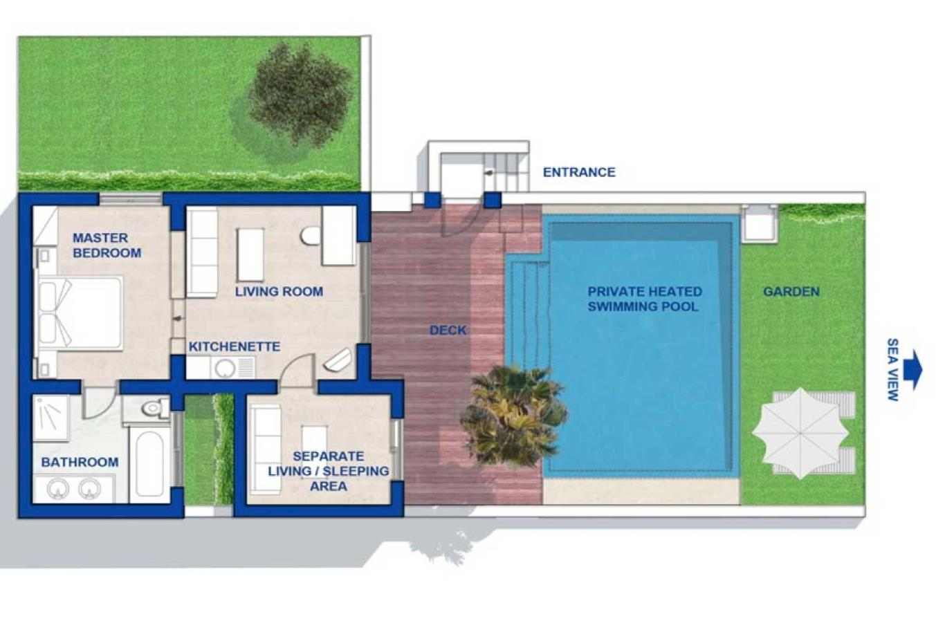 Floorplan Executive spa villa