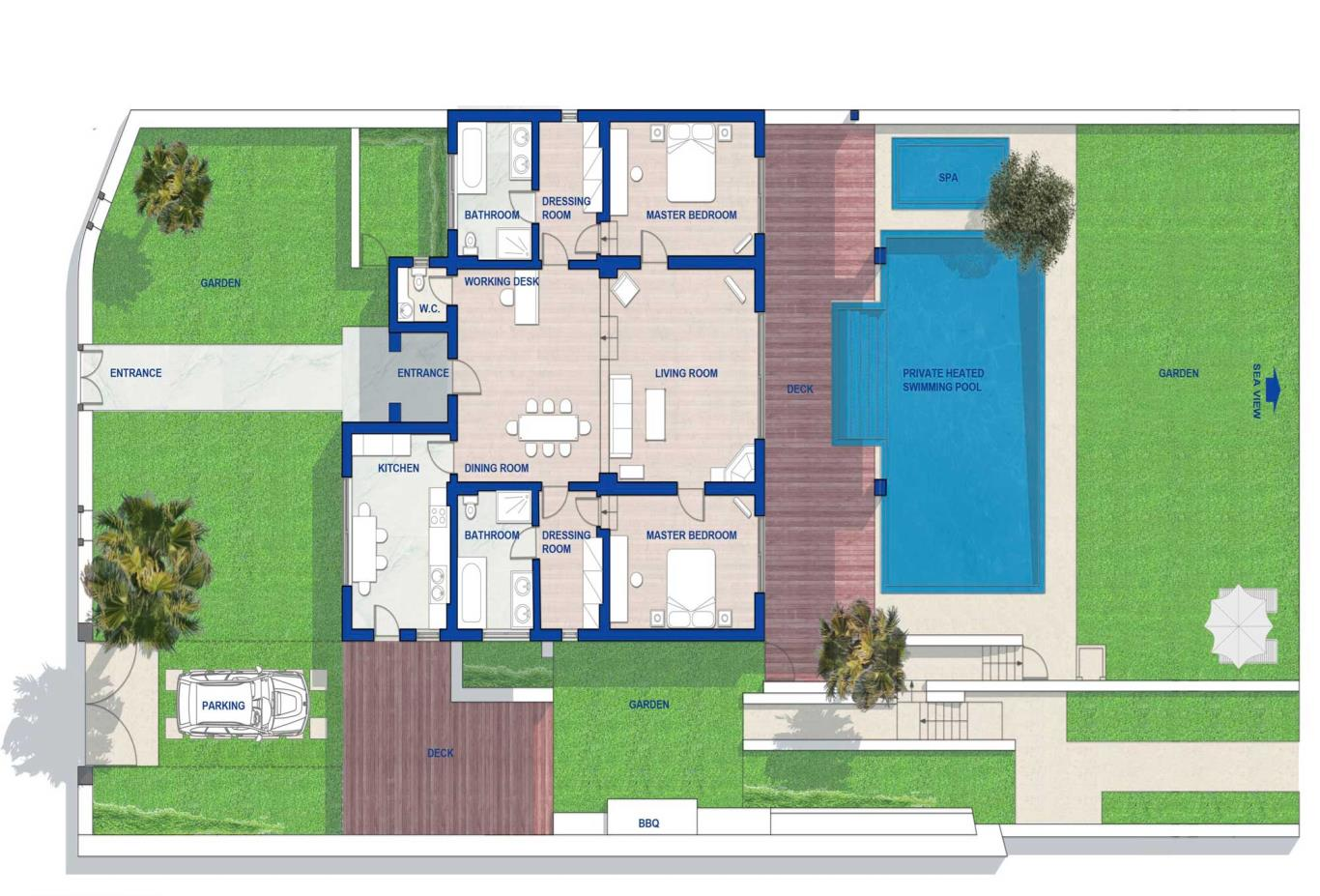 Floorplan Royal Spa Villa