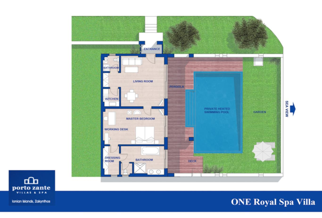 One Royal Spa Villa floorplan