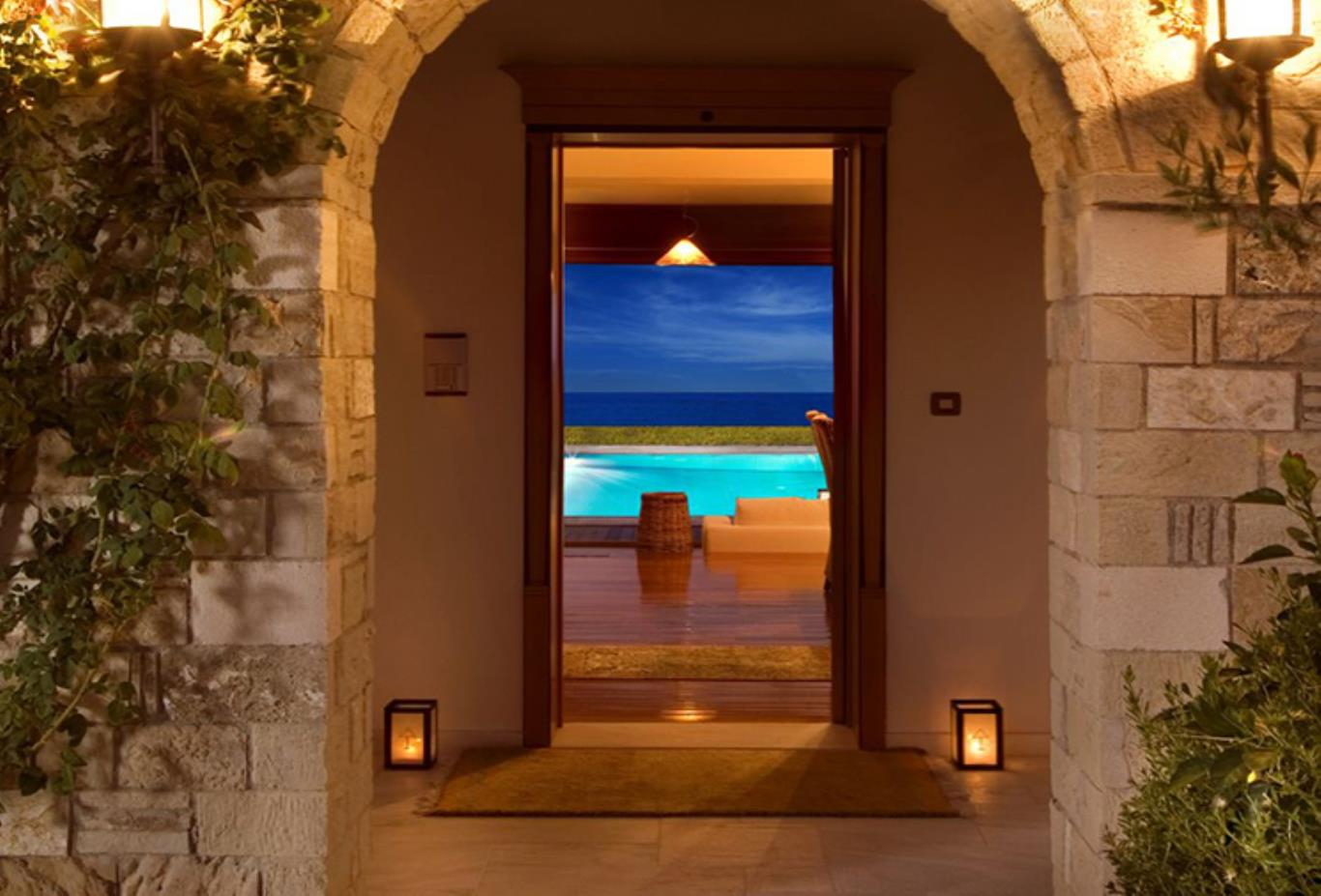 Presidential Spa Villa entrance