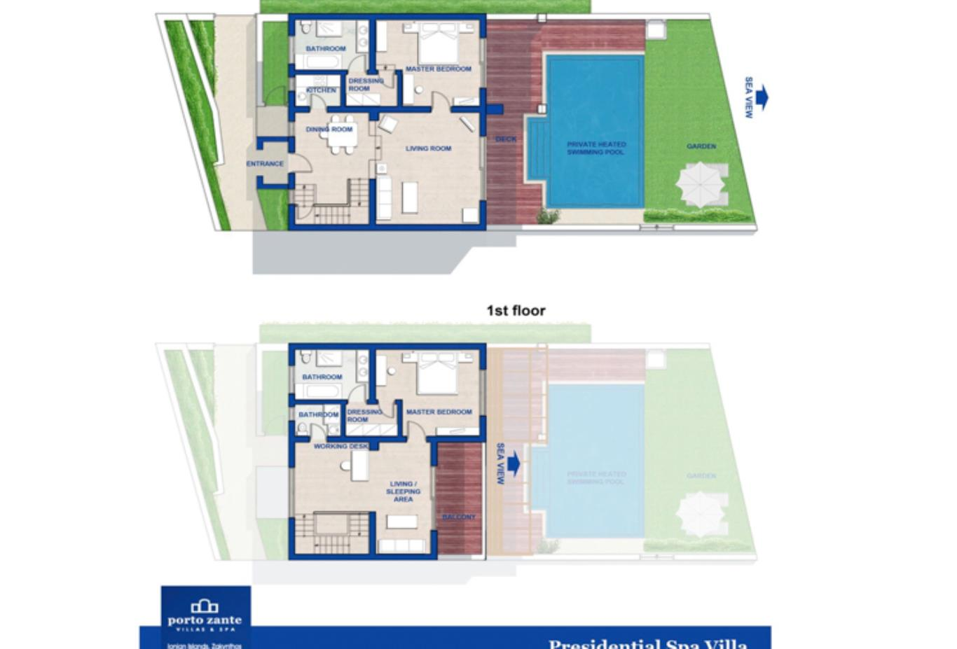 Presidential Spa Villa floorplan