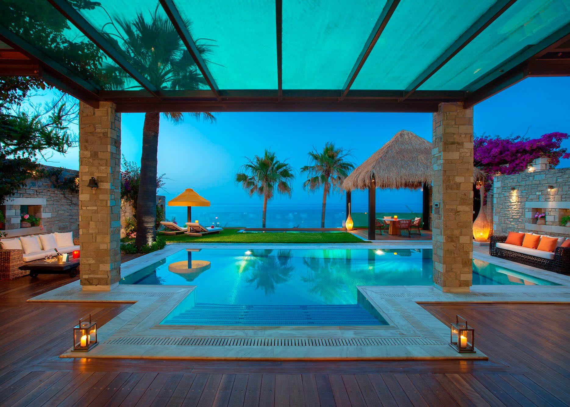 Royal spa villa outside