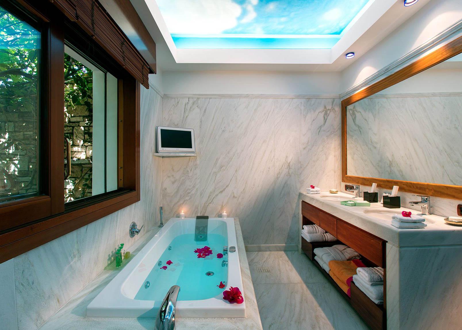 Royal Spa Villa   Lavish Antique Marble Bathroom