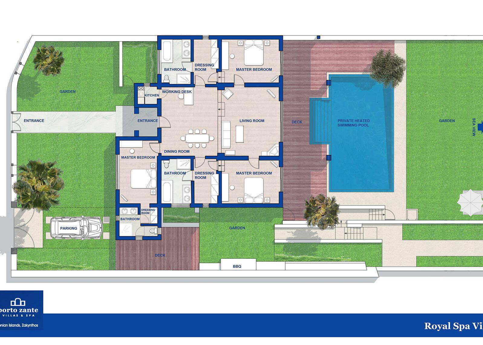 Royal spa villa floorplan