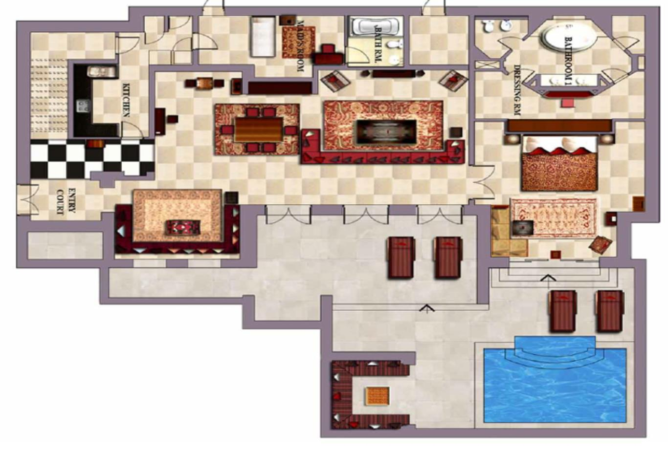 Floorplan-First-floor-three-bedroom-villa