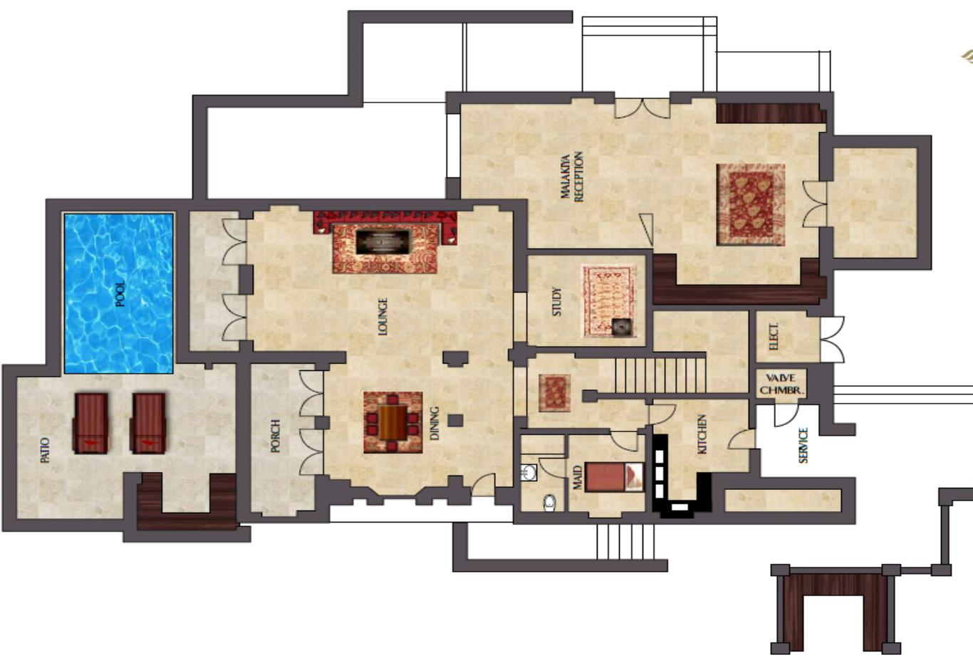 Floorplan-ground-floor-Two-bed-villa