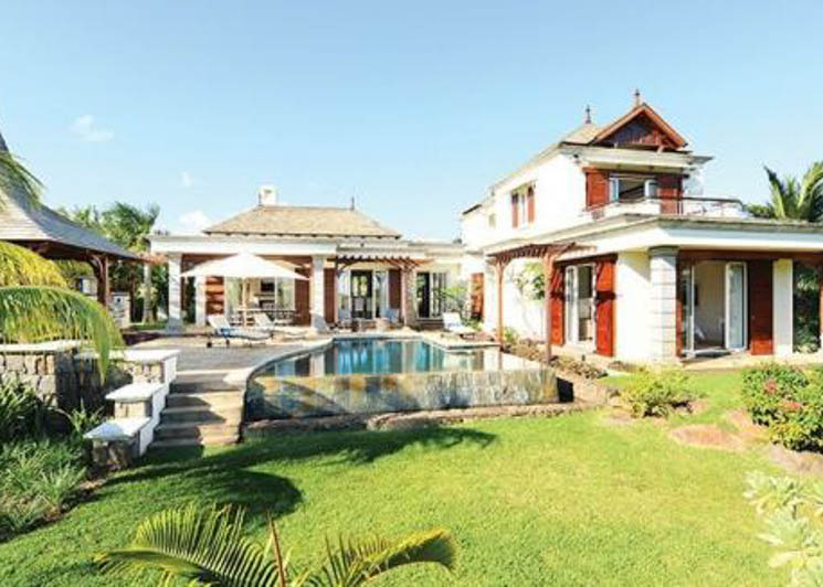 4 Bedroom Pool Villa pool and garden