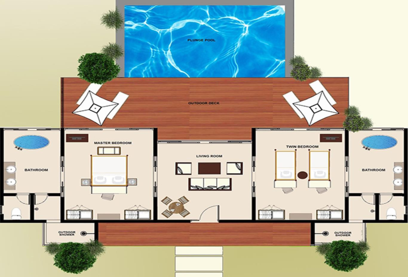 Floorplan-Two-Bedroom-Beach-Pool-Villa