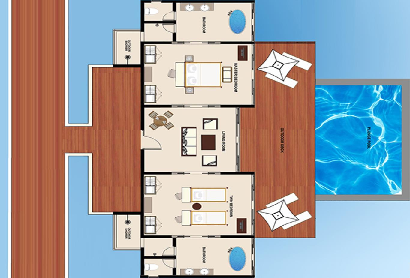 Floorplan-Two-Bedroom-Water-Pool-Villa