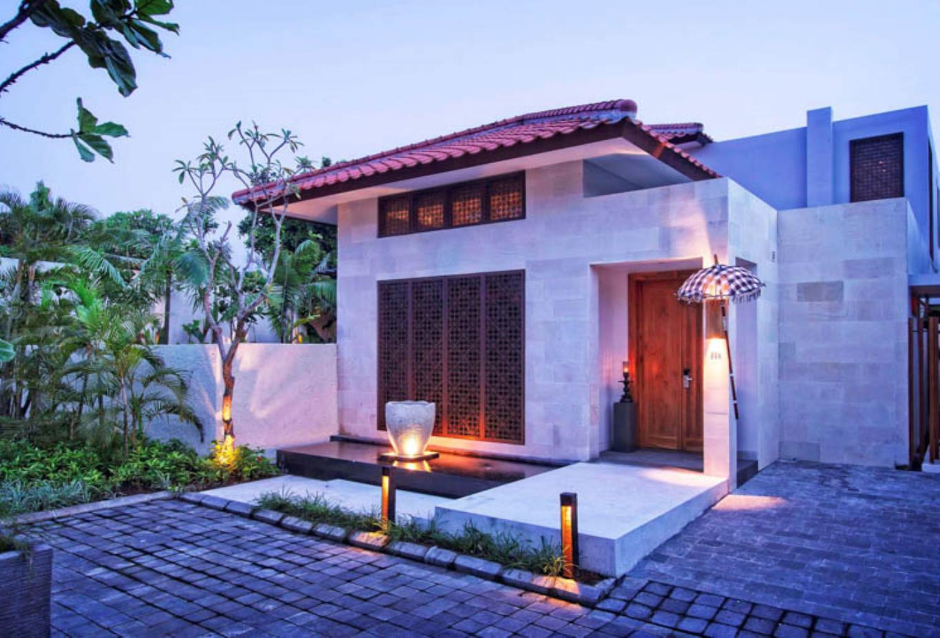 Two Bedroom Villa exterior evening