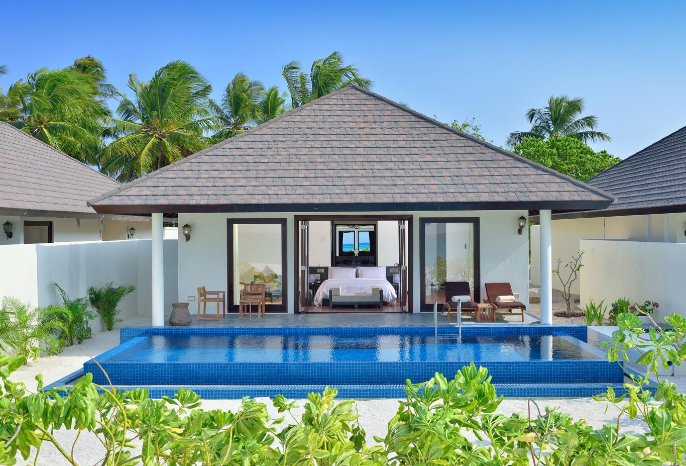 Sunset-pool-villa-exterior-pool-and-villa-interior