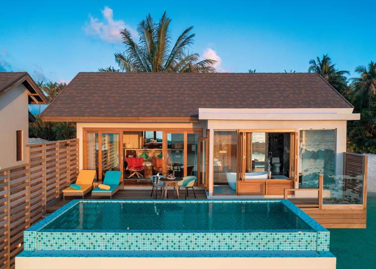 Water Villa and pool
