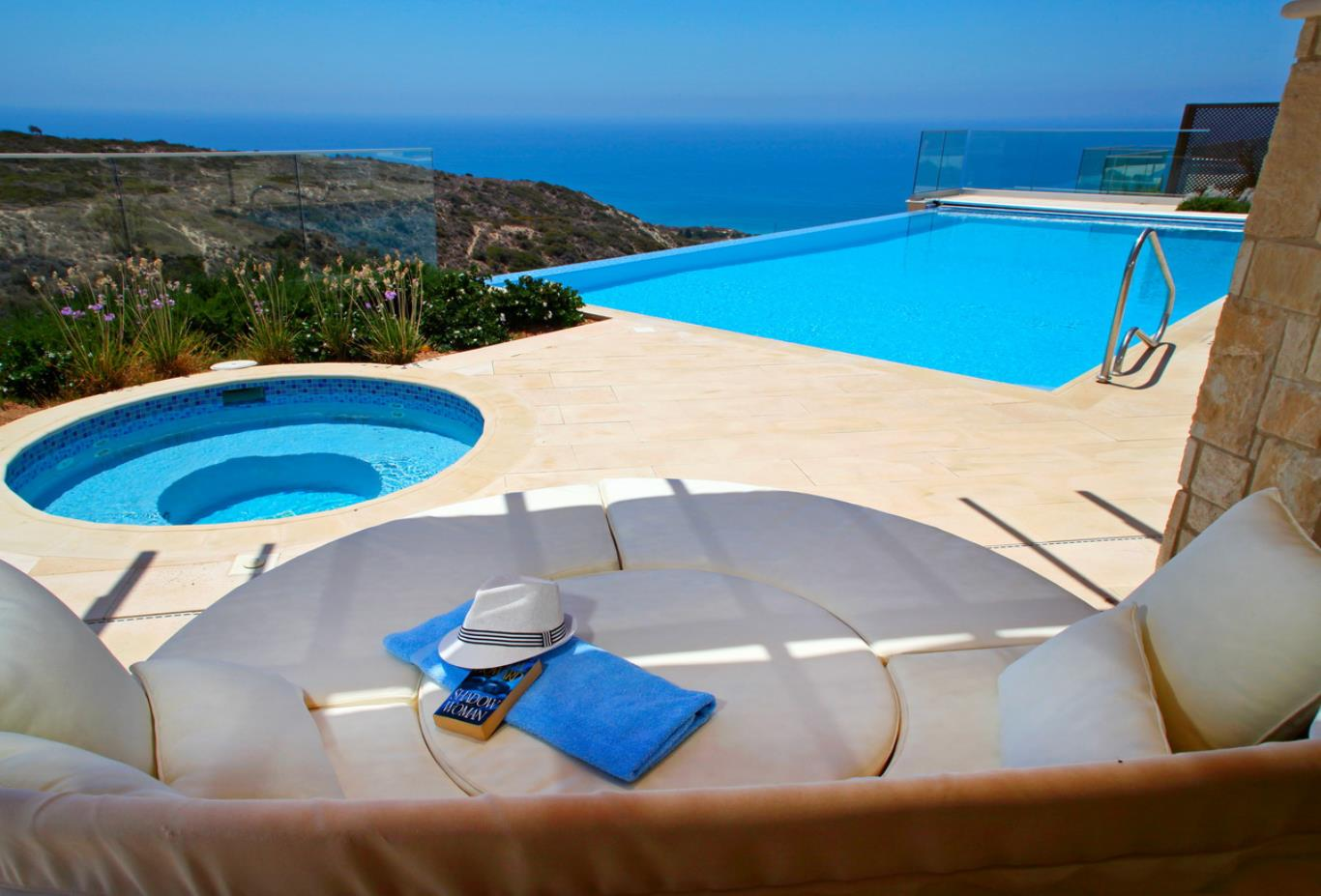 Mythos Collection 4 Bedroom Villa exterior with pools