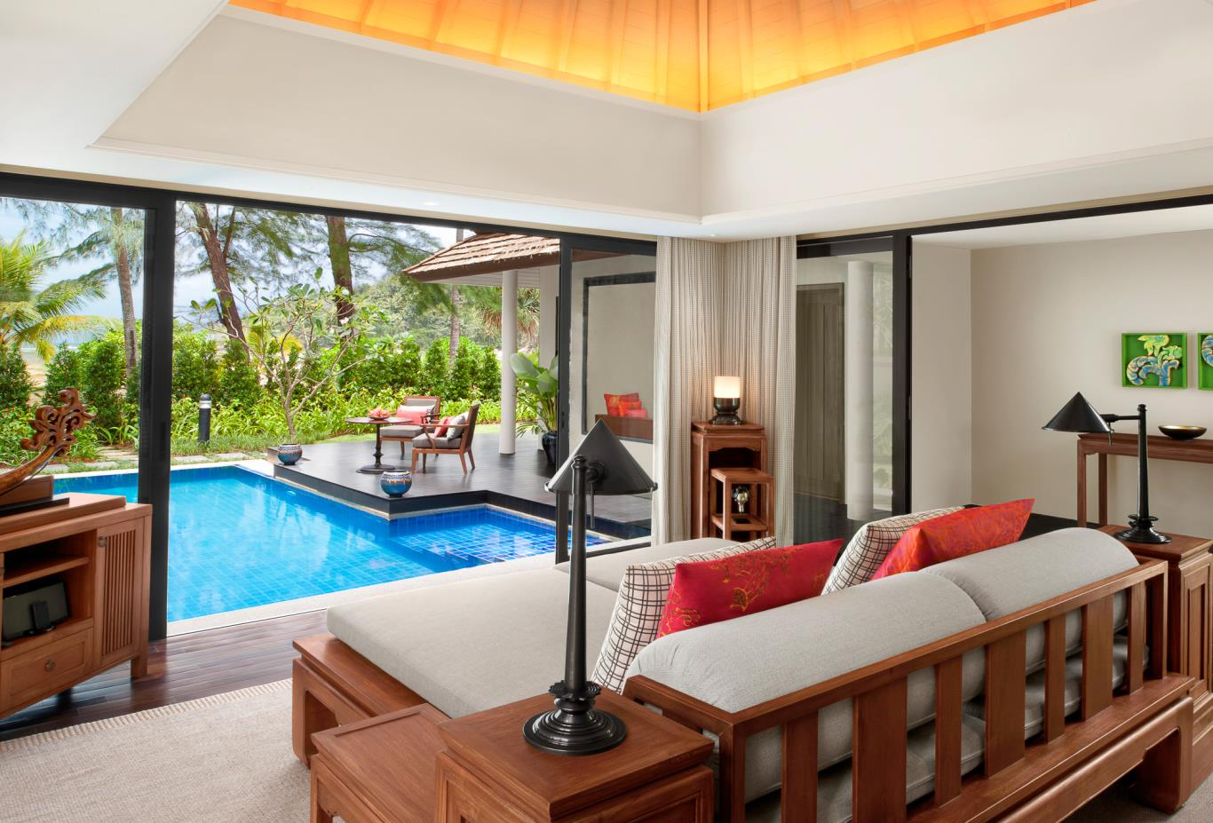 Beachfront Layan Pool Villa Living Room