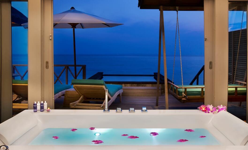 Sunset Water villa bathroom