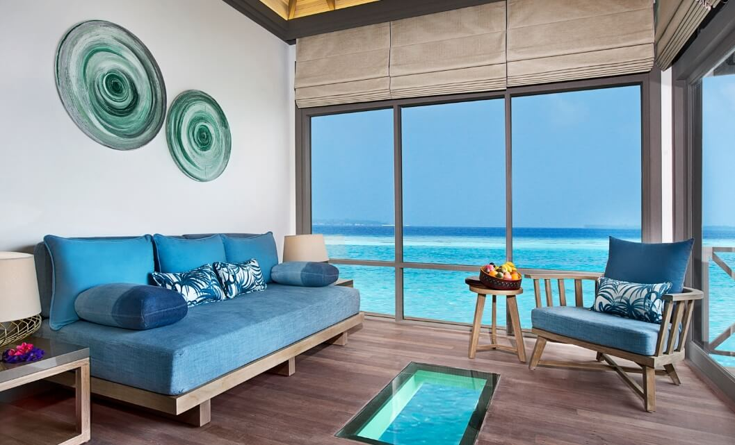 Sunset Water Villa with viewing panel