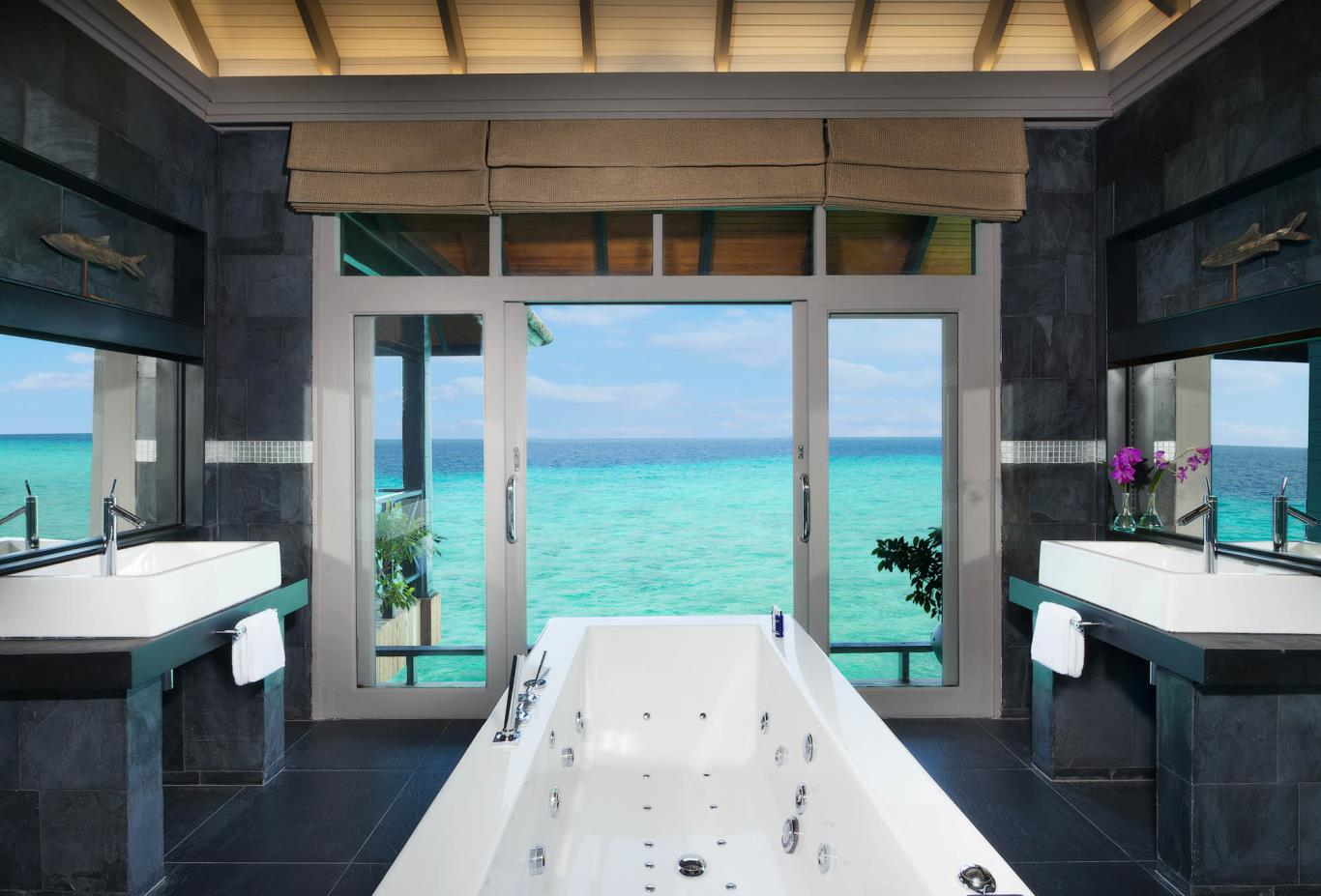 Grand Water Two Bedroom Suites With Private Infinity Pool Bathroom