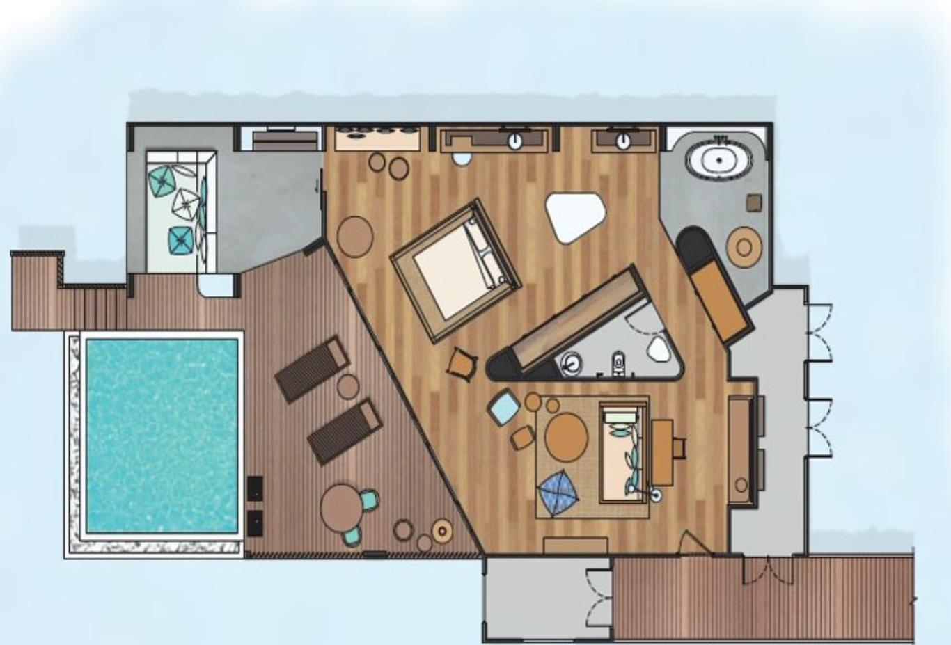 Ocean Lagoon House floorplan