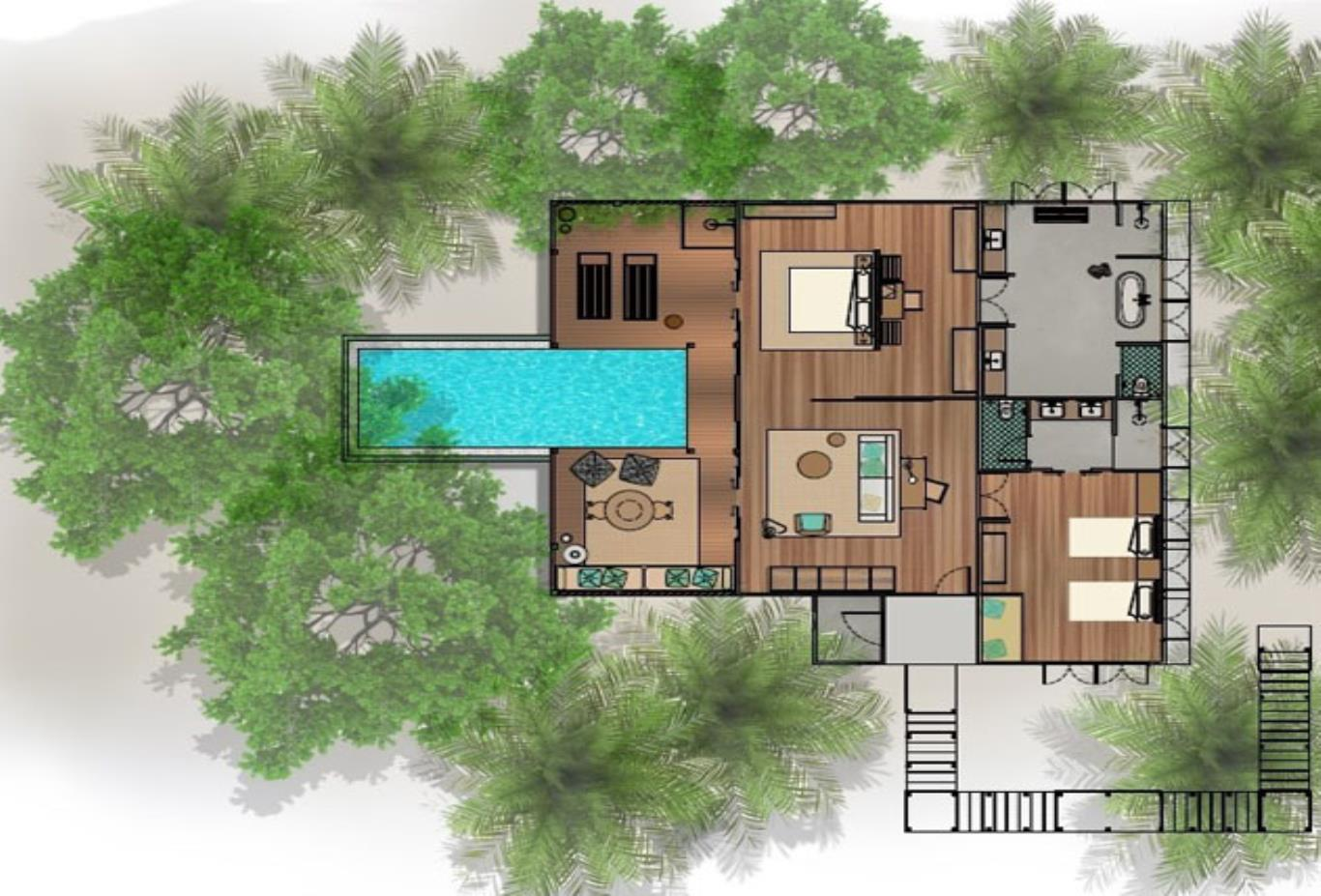 Tree House 2Bedroom floorplan