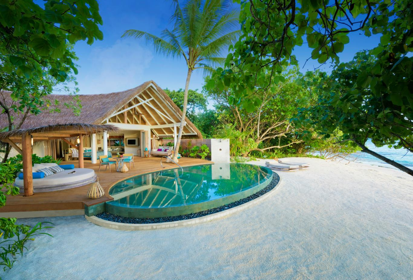 Beach pool villa pool
