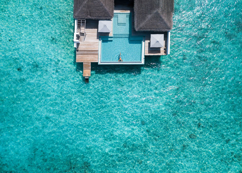 Rock Star Water Villa aerial