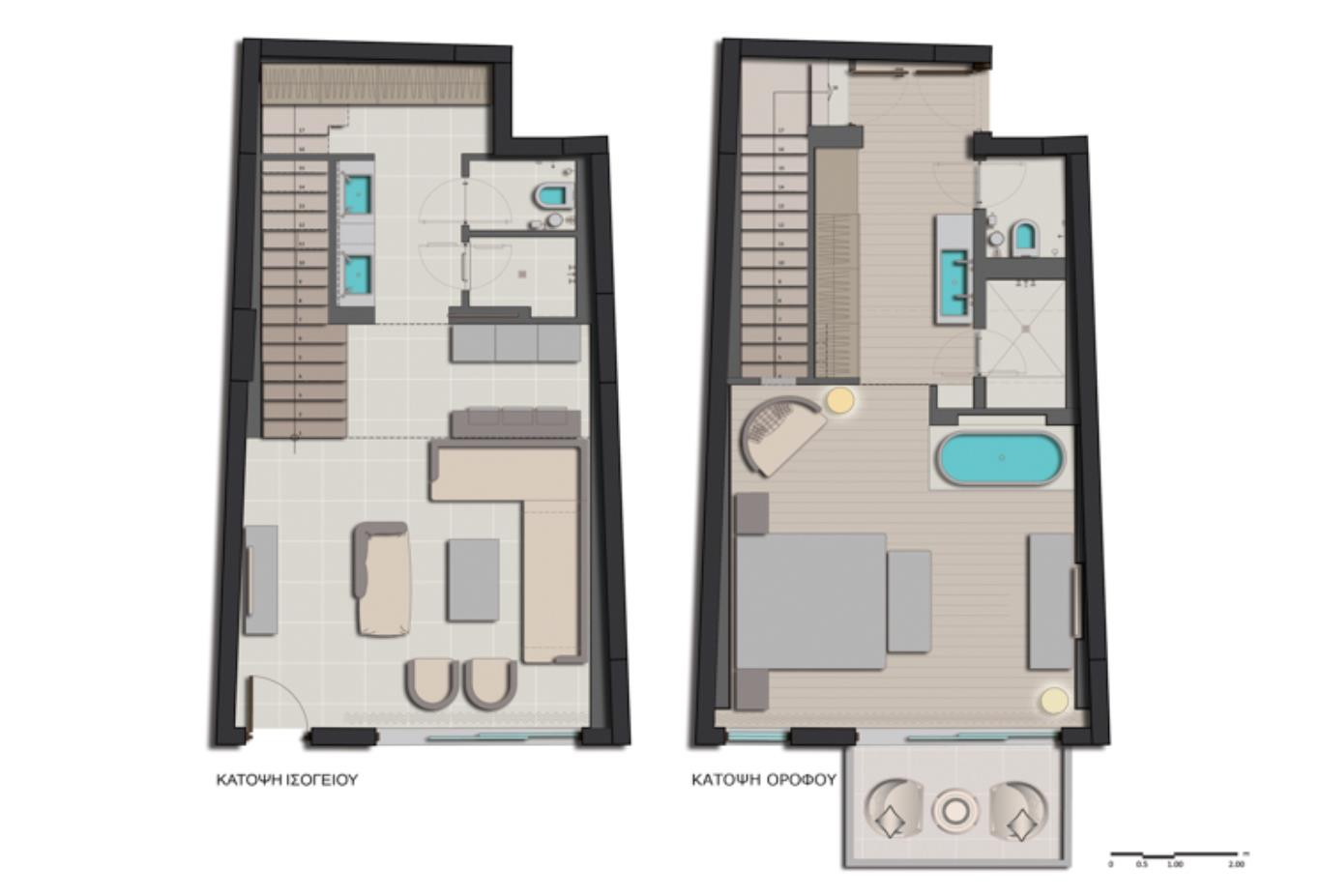 Duplex Suite floorplan