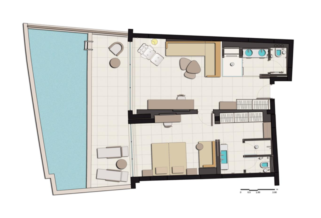 Suite Private Pool floorplan