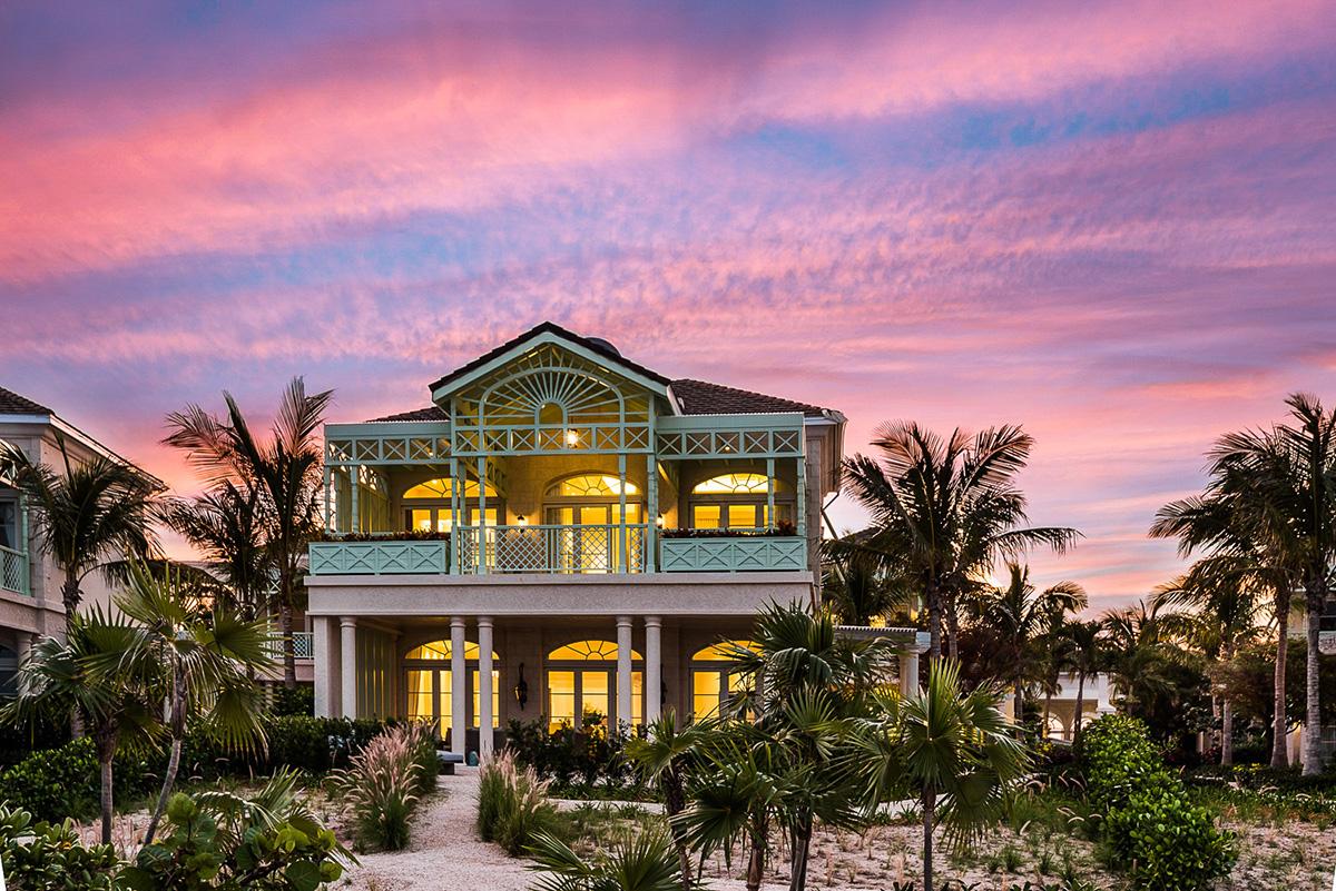 Villas at sunset