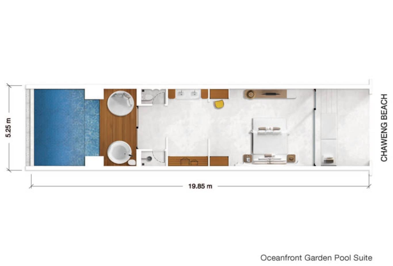 Oceanfront Garden Pool Suite floorplan